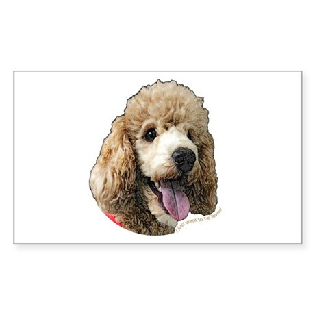 Standard Poodle Rectangle Sticker