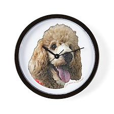 Standard Poodle Wall Clock