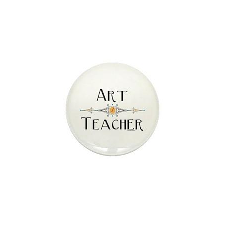 Art Teacher Line Mini Button