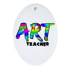 Art Teacher Ornament (Oval)