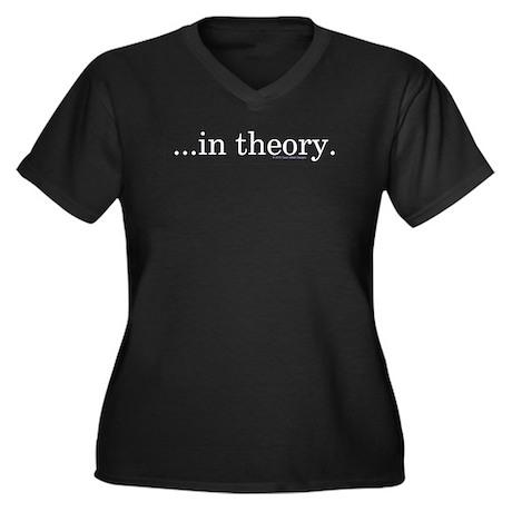 In Theory Women's Plus Size V-Neck Dark T-Shirt