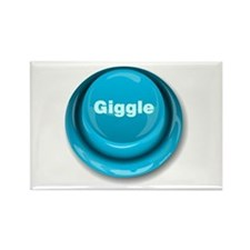 Giggle Button Rectangle Magnet