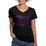 Ellery's Entourage Women's V-Neck Dark T-Shirt