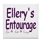 Ellery's Entourage Tile Coaster