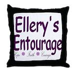 Ellery's Entourage Throw Pillow