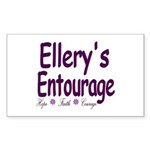 Ellery's Entourage Sticker (Rectangle)