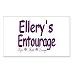 Ellery's Entourage Sticker (Rectangle 50 pk)