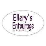 Ellery's Entourage Sticker (Oval 50 pk)