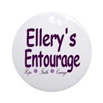 Ellery's Entourage Ornament (Round)
