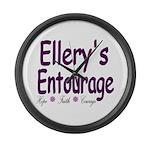 Ellery's Entourage Large Wall Clock