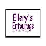 Ellery's Entourage Framed Panel Print