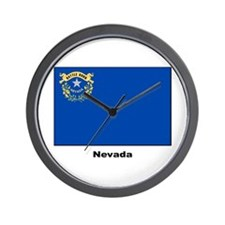 Nevada State Flag Wall Clock