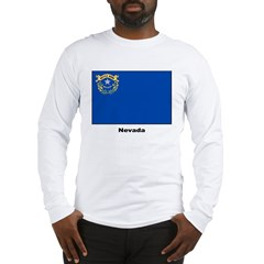 Nevada State Flag (Front) Long Sleeve T-Shirt