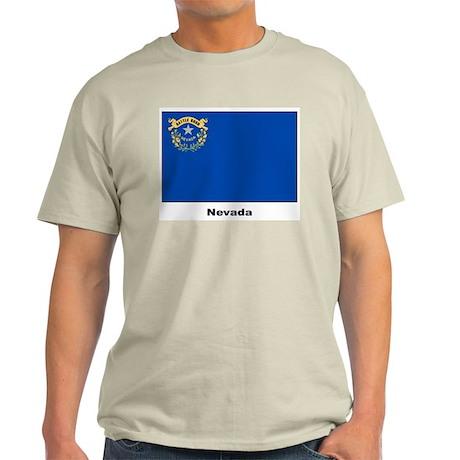 Nevada State Flag Ash Grey T-Shirt