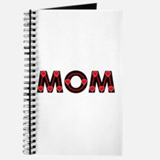 Mom Red Hearts Journal