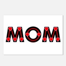 Mom Red Hearts Postcards (Package of 8)