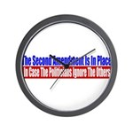 The Second Amendment Is In Pl Wall Clock
