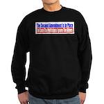 The Second Amendment Is In Pl Sweatshirt (dark)
