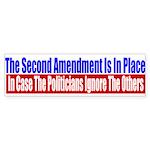 The Second Amendment Is In Pl Sticker (Bumper 50 p