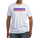 The Second Amendment Is In Pl Fitted T-Shirt