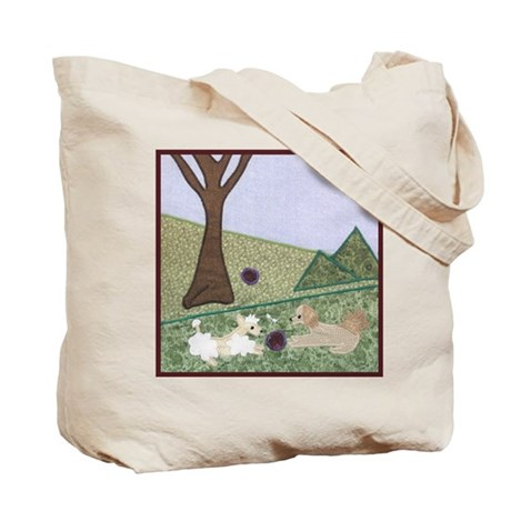 Playing Outdoors Tote Bag