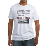 Curling-The Official Game Of Fitted T-Shirt