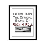 Curling-The Official Game Of Framed Panel Print
