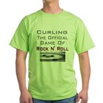 Curling-The Official Game Of Green T-Shirt