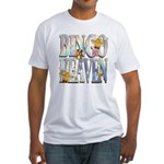 Bingo Heaven Text Animals Fitted T-Shirt
