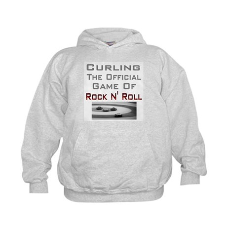 Curling-The Official Game Of Kids Hoodie