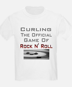 Curling-The Official Game Of Kids T-Shirt