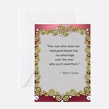 Reading Advantage - Twain Greeting Card
