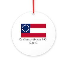 Secede! Confederate States Ornament (Round)