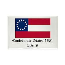 Secede! Confederate States Rectangle Magnet (10 pa