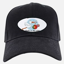 Stork Baby Portugal USA Baseball Hat