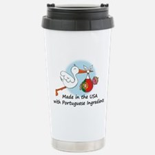 Stork Baby Portugal USA Travel Mug