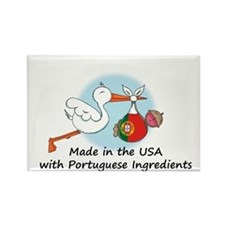 Stork Baby Portugal USA Rectangle Magnet