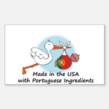 Stork Baby Portugal USA Decal