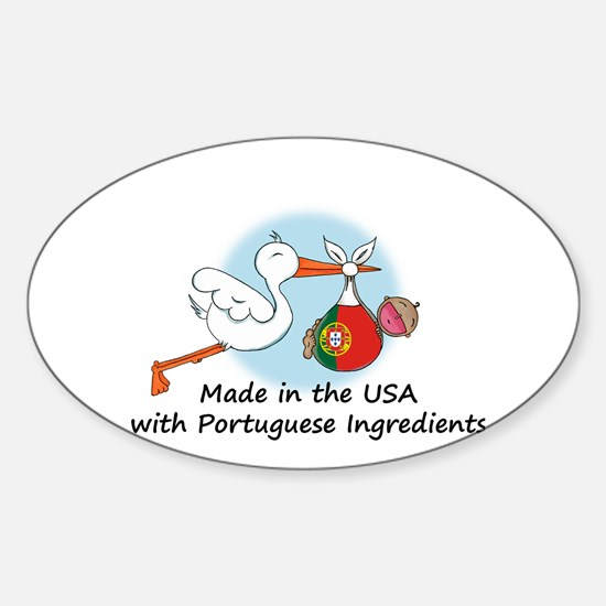 Stork Baby Portugal USA Sticker (Oval)