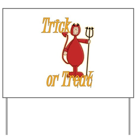 Trick or Treat Li'l Devil Yard Sign