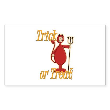 Trick or Treat Li'l Devil Sticker (Rectangle)