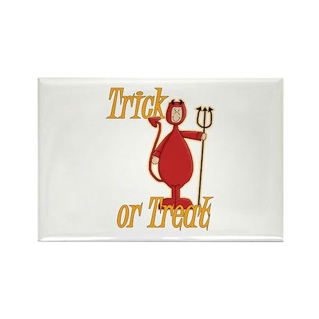 Trick or Treat Li'l Devil Rectangle Magnet (100 pa