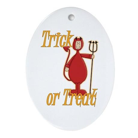 Trick or Treat Li'l Devil Ornament (Oval)
