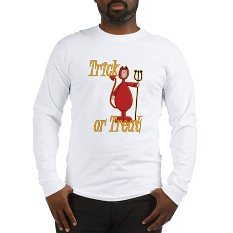 Trick or Treat Li'l Devil Long Sleeve T-Shirt