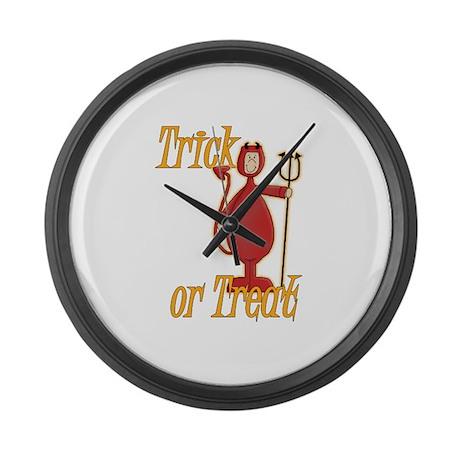 Trick or Treat Li'l Devil Large Wall Clock