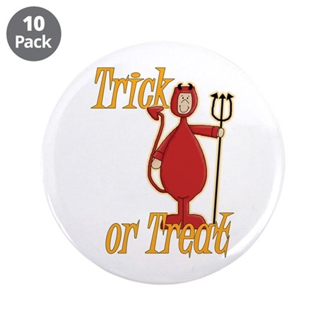 """Trick or Treat Li'l Devil 3.5"""" Button (10 pack)"""