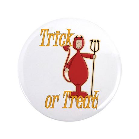 """Trick or Treat Li'l Devil 3.5"""" Button"""