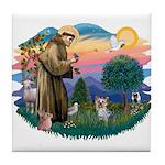 St Francis #2/ Yorkie #13 Tile Coaster