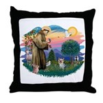 St Francis #2/ Yorkie #13 Throw Pillow