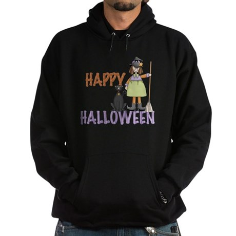 Halloween Witch and Cat Hoodie (dark)